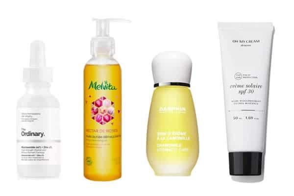 produits pour le visage soin