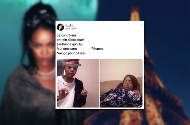 Le top des blagues sur l'arrivée de Rihanna à Paris