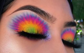maquillage tie and dye