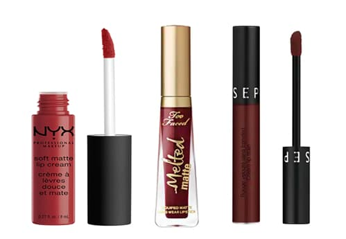 rouge à lèvres foncé teintes chaudes