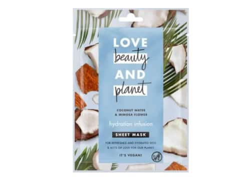 masque en tissu love beauty and planet