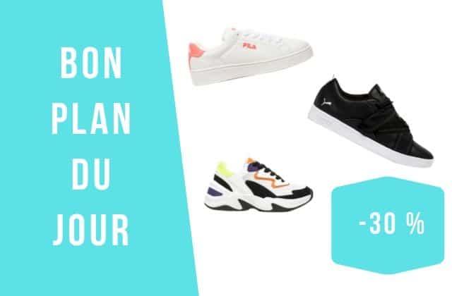 Bon plan du jour : – 30% sur une sélection de sneakers !