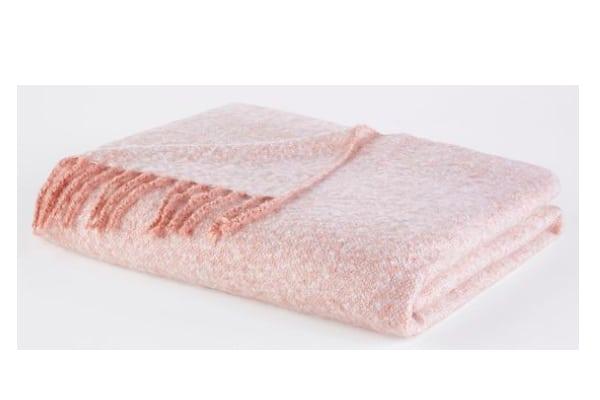 plaid tricot chiné