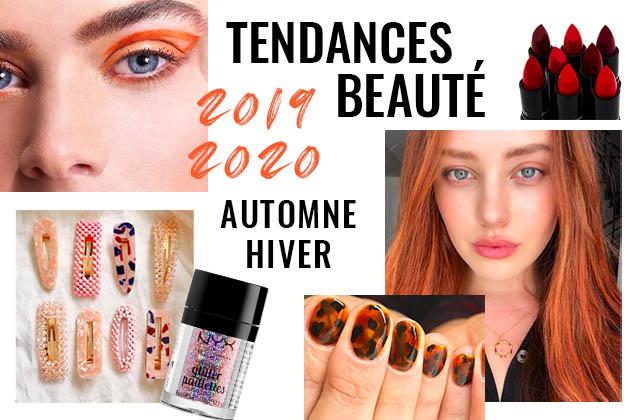 Tendances beauté automne hiver 2019,2020  toutes les