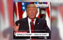Non, Donald Trump n'a pas annoncé « la fin du SIDA»