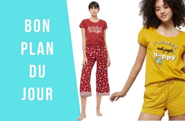 Bon plan du jour : – 50% sur des pyjamas cocooning Etam Lingerie !