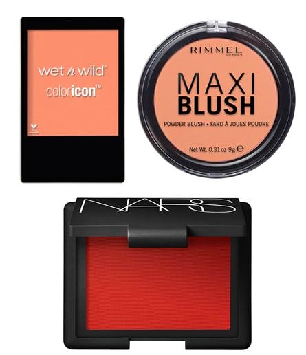 blush oranges et rouge automne
