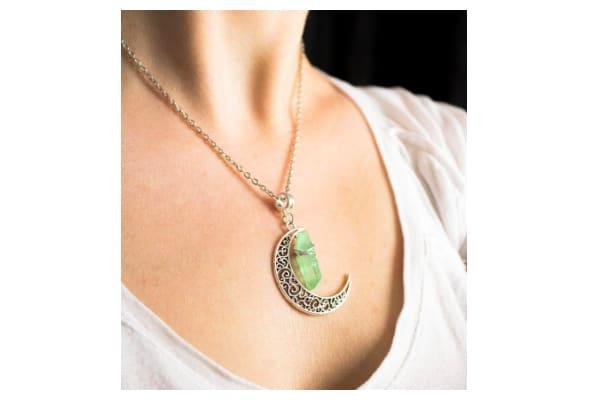 collier sorcière lune cristal
