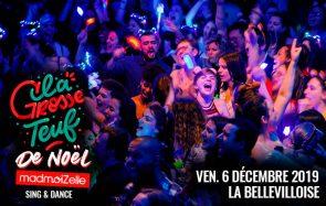 Viens chanter et danser à la Grosse Teuf de Noël ce vendredi 6 décembre !