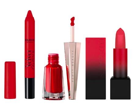 rouge à lèvres rouge opaque