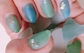 faux ongles seaglass
