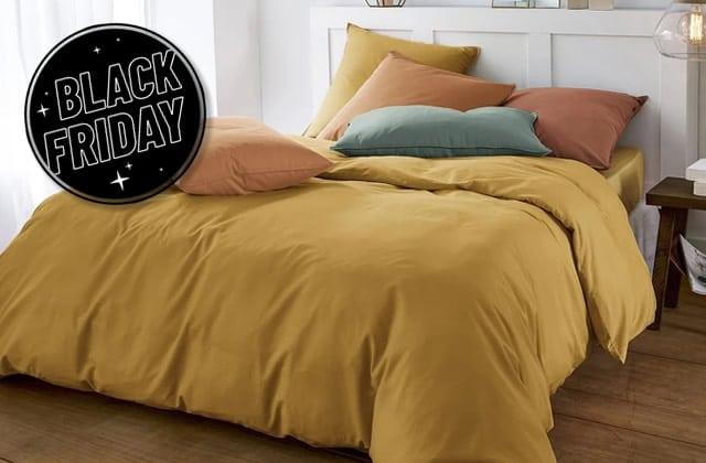 Par ici le linge de lit (housses de couette, plaids…) en promo!