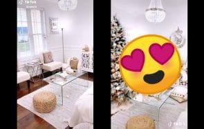 Ces vidéos d'intérieur avant/après décorations de Noël sont magiques