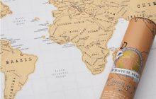 La carte du monde à gratter, une idée cadeau parfaite pour la Saint-Valentin !