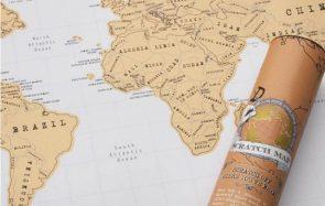 La carte du monde à gratter, une idée cadeau parfaite pour Noël