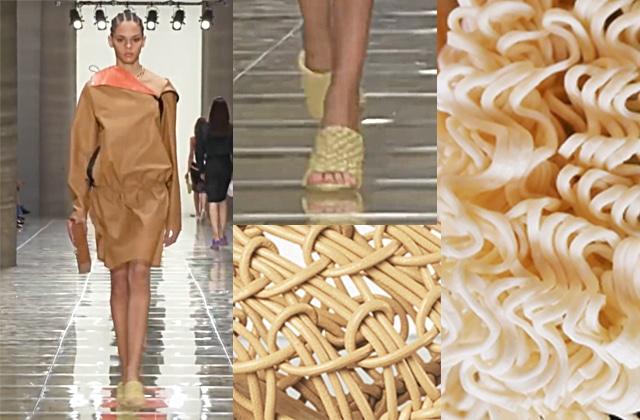 Ces chaussures de luxe sont-elles inspirées des nouilles instantanées ?