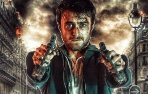 Que fait Daniel Radcliffe en slip avec des flingues ?