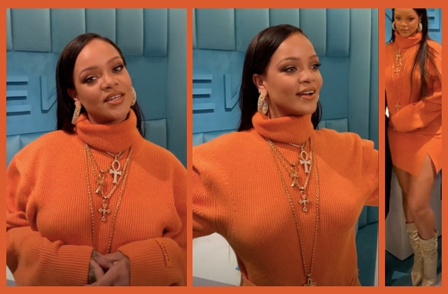 Get The Look de Rihanna : shoppe son ensemble orange vif !