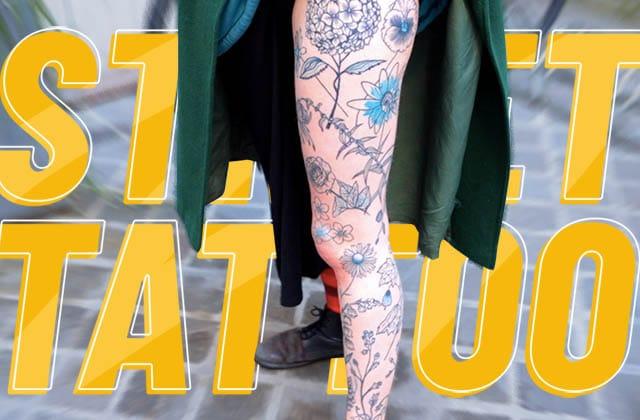 Chloé et ses tatouages floraux et  d'animaux !