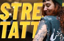 Un tattoo en direct au Mondial du Tatouage