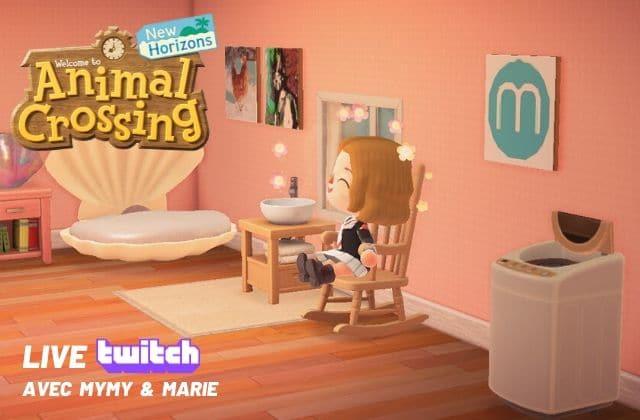 Live Animal Crossing ce samedi, 19h, avec Marie& Mymy!