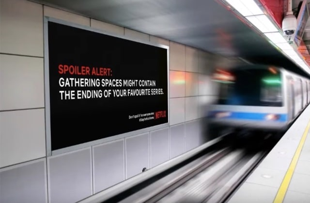 Des spoilers Netflix dans la rue pour renforcer le confinement?