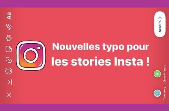 De nouvelles polices arrivent enfin dans les stories Instagram !