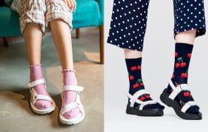 Comment maîtriser le look sandales-chaussettes cette saison