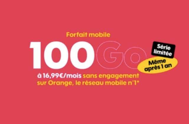 Bon plan : le forfait 4G Sosh 100Go à 16,99€/mois