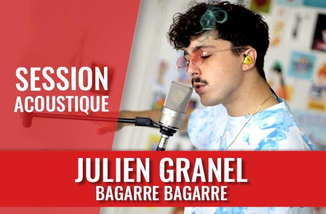 Julien Granel t'offre un bout d'été avec « BAGARRE BAGARRE » en session live