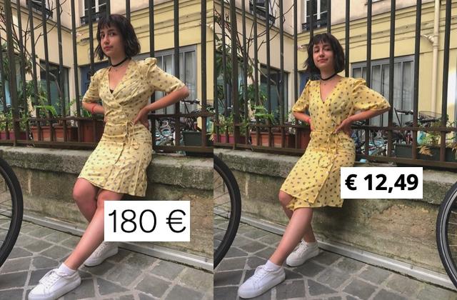 Dropshipping ou contrefaçon ? On a enquêté sur la robe de Jeanne Damas et son équivalent AliExpress
