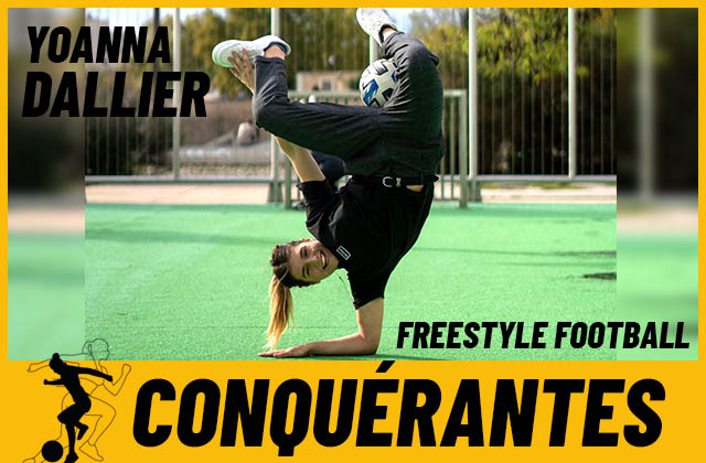 Formée sur YouTube, Yoanna est devenue freestyleuse football pro